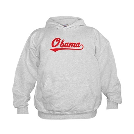 Obama (baseball-red) Kids Hoodie