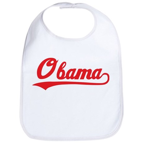 Obama (baseball-red) Bib