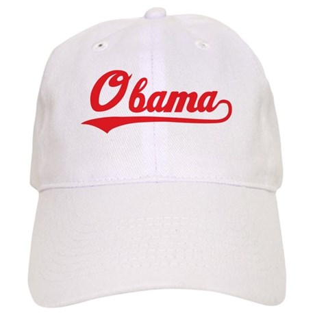 Obama (baseball-red) Cap