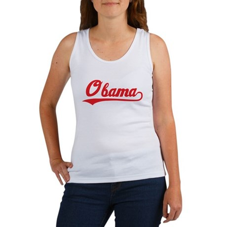 Obama (baseball-red) Women's Tank Top