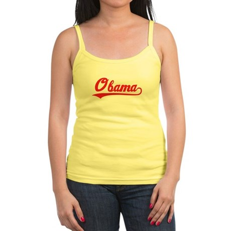 Obama (baseball-red) Jr. Spaghetti Tank