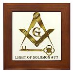Light of Solomon #77 Framed Tile