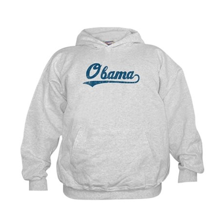 Obama (baseball-blue-vintage) Kids Hoodie