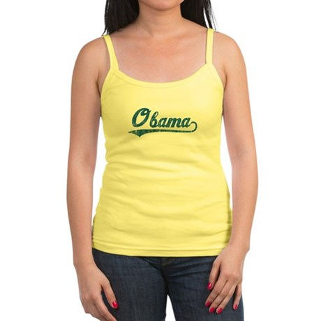 Obama (baseball-blue-vintage) Jr. Spaghetti Tank