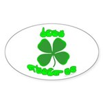 Don't Pinch Me Oval Sticker (10 pk)