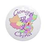 Gongyi China Map Ornament (Round)
