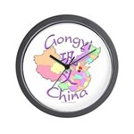 Gongyi China Map Wall Clock