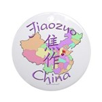 Jiaozuo China Map Ornament (Round)