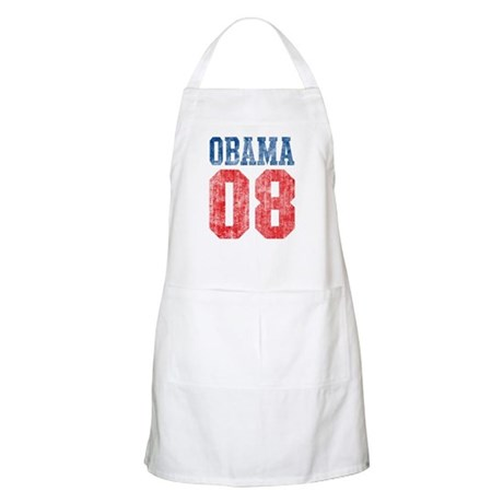 Obama 08 (red and blue) BBQ Apron