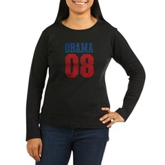 Obama 08 (red and blue) Women's Long Sleeve Dark T