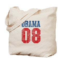 Obama 08 (red and blue) Tote Bag