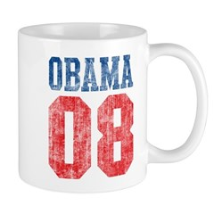 Obama 08 (red and blue) Mug