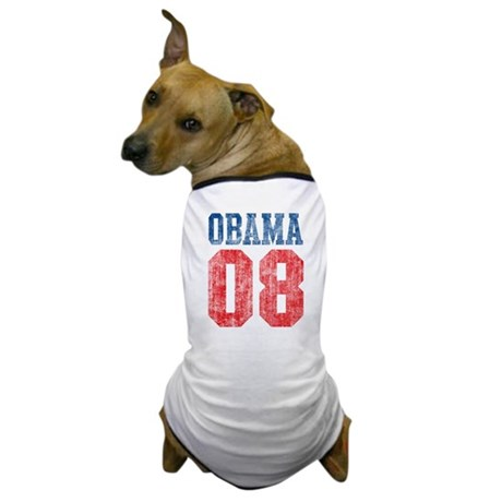 Obama 08 (red and blue) Dog T-Shirt