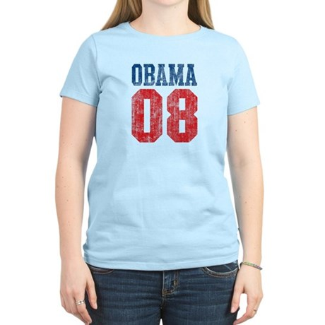 Obama 08 (red and blue) Women's Light T-Shirt