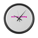 Nerd In Training T Large Wall Clock