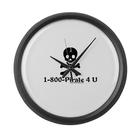 1 800 Pirate 4 U Large Wall Clock