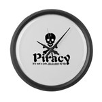 Piracy Large Wall Clock