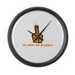 Rum For Breakfast Tran Large Wall Clock