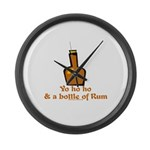 Bottle of Rum Large Wall Clock