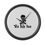 Yo Ho Ho Large Wall Clock