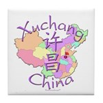 Xuchang China Map Tile Coaster