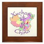Xuchang China Map Framed Tile
