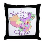 Xuchang China Map Throw Pillow