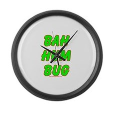 Dark Big Bah Hum Bug Large Wall Clock