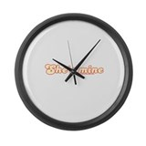 She's Mine Tran Large Wall Clock