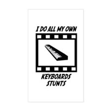 Keyboards Stunts Rectangle Decal