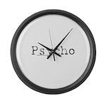 Psycho Large Wall Clock