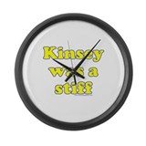 Kinsey Was A Stiff Large Wall Clock