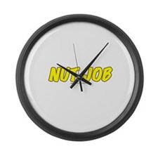 Nut Job Large Wall Clock