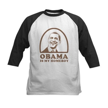 Obama is my homeboy Kids Baseball Jersey