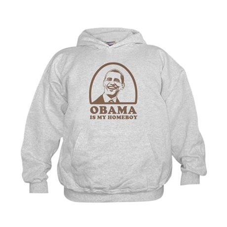Obama is my homeboy Kids Hoodie
