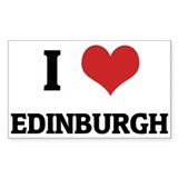 I Love Edinburgh Rectangle Decal