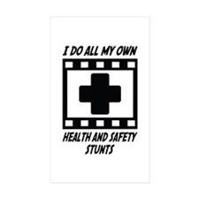Health and Safety Stunts Rectangle Sticker 10 pk)