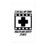 Health and Safety Stunts Rectangle Sticker 50 pk)