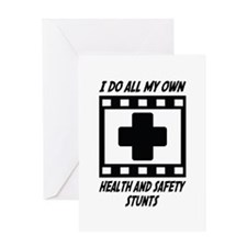 Health and Safety Stunts Greeting Card