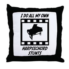 Harpsichord Stunts Throw Pillow