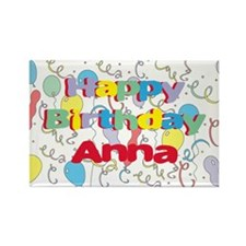 Happy Birthday Anna Rectangle Magnet