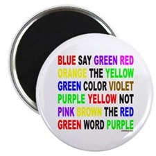 "SAY THE COLOR NOT THE WORD 2.25"" Magnet (10 pack)"