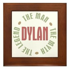 Dylan Man Myth Legend Framed Tile