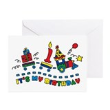 Choo Choo First Birthday Greeting Cards (Pk of 10)