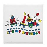 Choo Choo First Birthday Tile Coaster