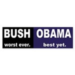 Bush vs. Obama bumper sticker