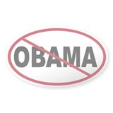 No Obama Oval Decal