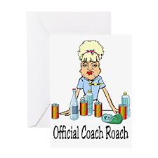 Coach Roach Greeting Card