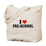 I Heart/Love Pre-School Tote Bag