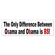 Osama OBama - BS Bumper Car Sticker